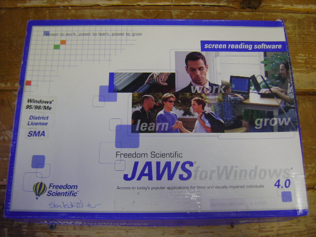 JAWS FOR WINDOWS 4/4 5 SCREEN READER FOR BLIND on PopScreen